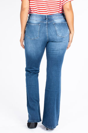 Plus Size KanCan High Rise Flare Jeans
