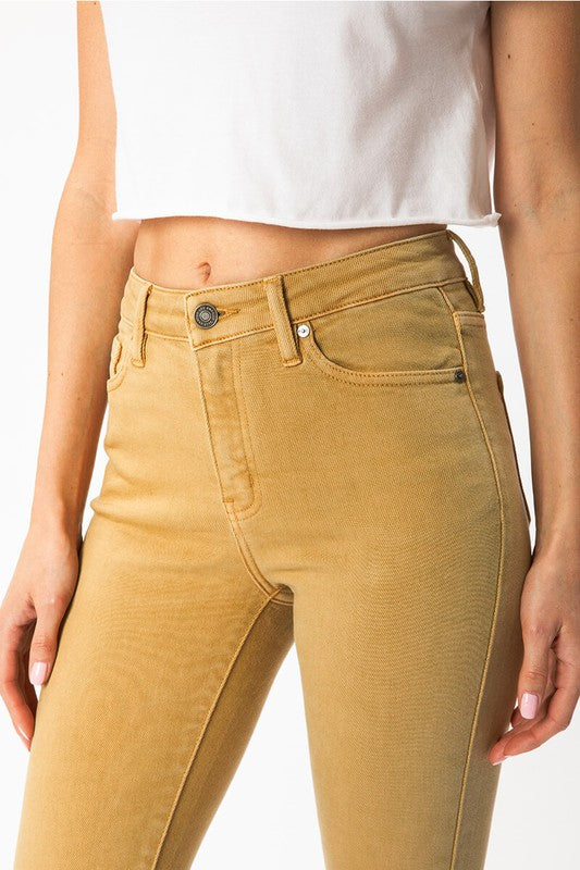 Butter Colored KanCan Gemma High Rise R & B Skinny