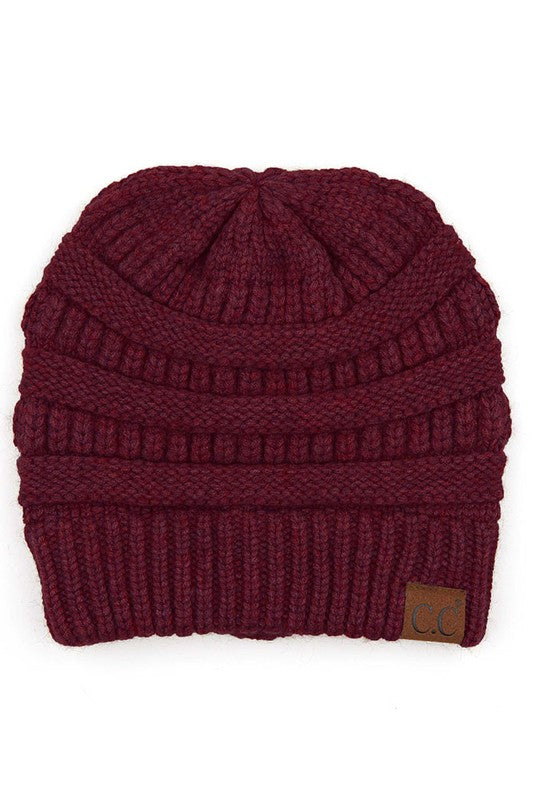 Berry Colored CC Soft Yarn Hat