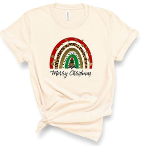 Plus Size Merry Christmas Rainbow