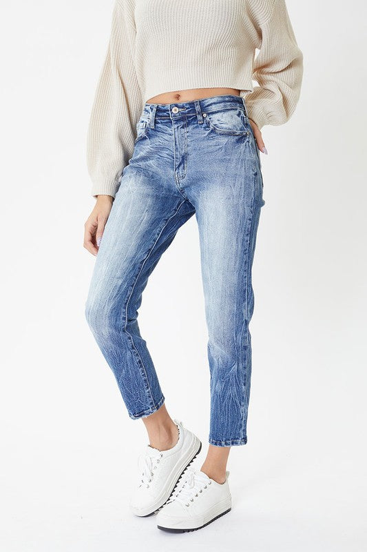 KanCan High Rise Non Distressed Mom Jean
