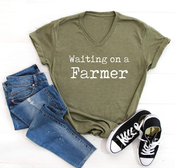 Waiting on a farmer Graphic Tee