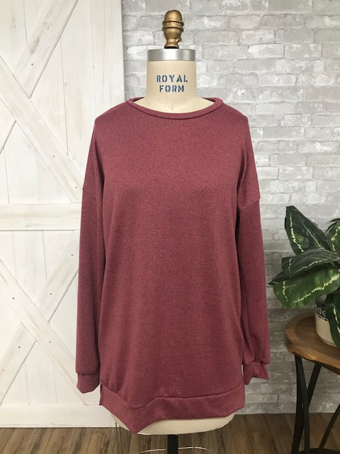 Deep Mauve Sweatshirt    Lightweight