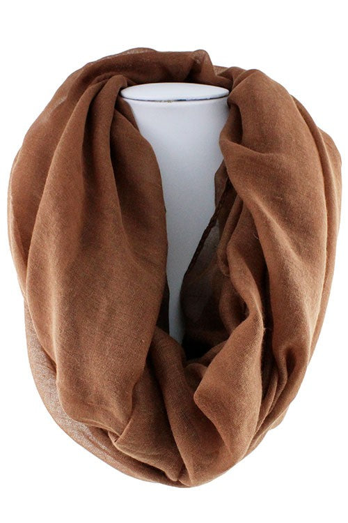 Solid Brown Infinity scarf