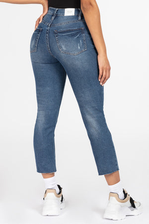 YMI High Rise Raw Hem Anklet Jeans