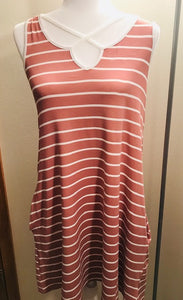 Dusty Pink Criss Cross dress with pockets