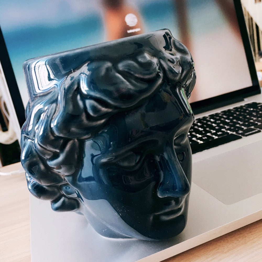 3D Style David  Sculpture Ceramic Mug