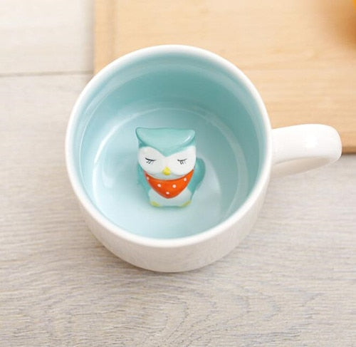 Cute Animal in a cup mug