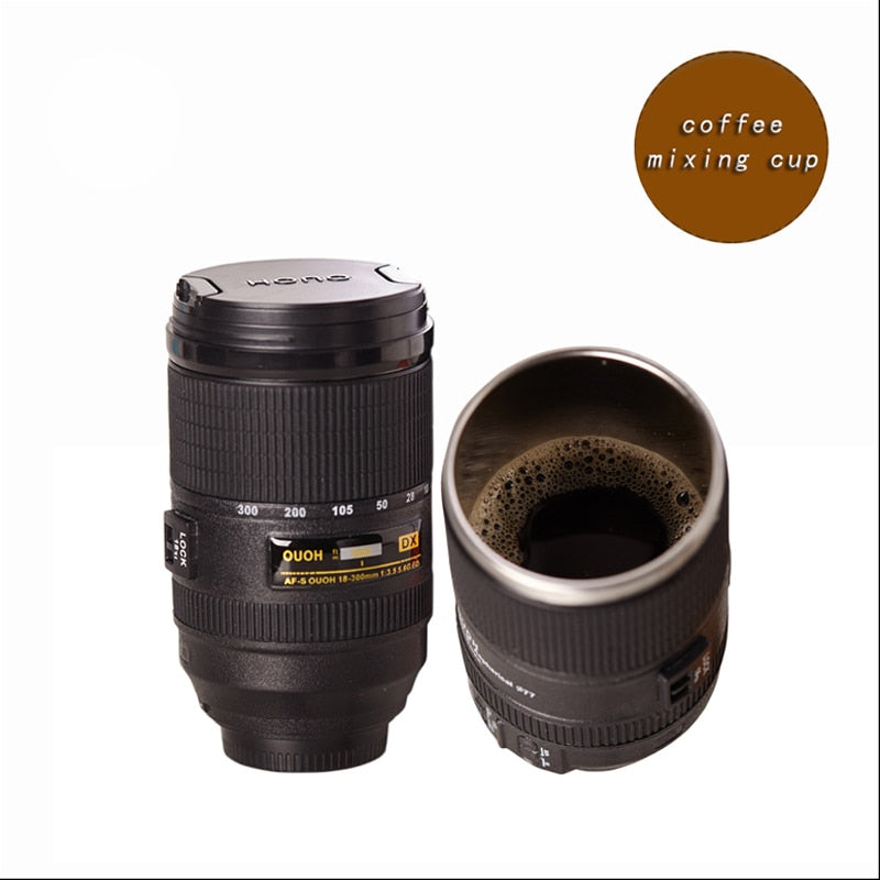 Camera Double Insulated Coffee Cup with Lid