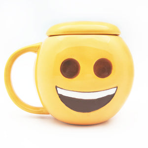 Emoji Coffee mug with lid