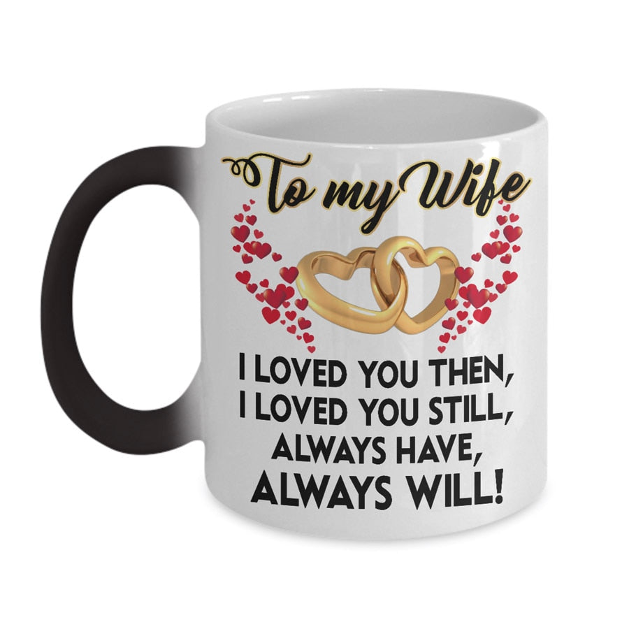 Color Changing To My Husband & Wife Mug