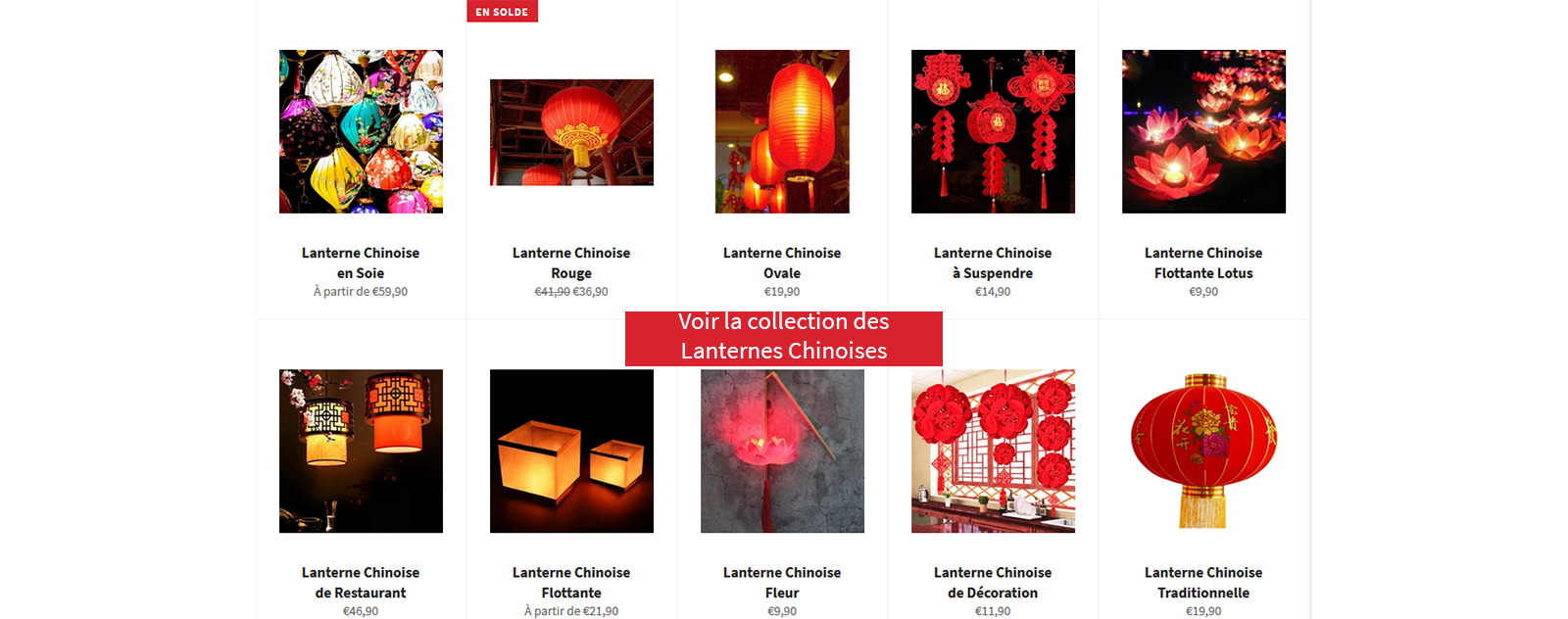 Collection Lanterne Chinoise