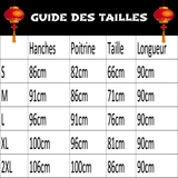 Robe Chinoise Manche Longue guide des tailles