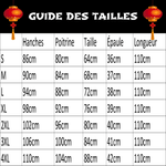 Robe Chinoise Fashion guide des tailles