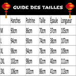 Robe Chinoise Graphique guide des tailles