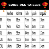 Robe Chinoise Droite guide des tailles