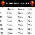 Robe Chinoise Patineuse Longue guide des tailles