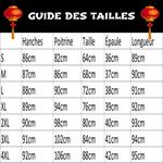Robe Chinoise Cubique guide des tailles