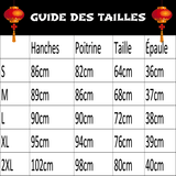 Robe Chinoise Épaulettes guide des tailles