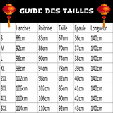 Robe Chinoise Pivoine Rouge guide des tailles