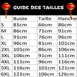 Veste Chinoise Femme Col Mao guide des tailles