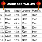 Veste Chinoise Homme Officer guide des tailles