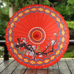 Ombrelle Chinoise de Mariage Traditionnel rouge