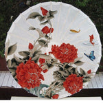 Ombrelle Chinoise Fleurs Rouges chine