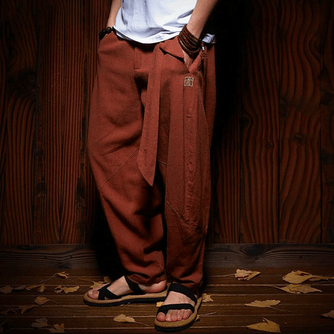 Pantalon Chinois Marron