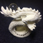 Statue Chinoise Dragon Blanc dos