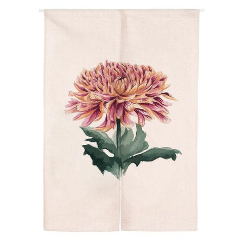 Rideaux Chinois Chrysanthème rose