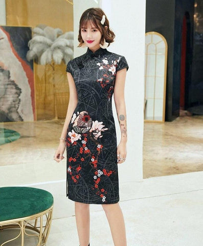 Robe Chinoise Calendrier Astral noir