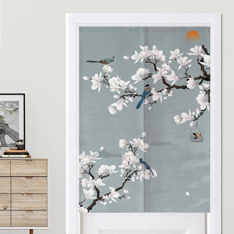 Rideaux Chinois Fleurs Blanches