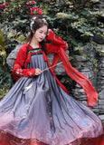 Hanfu Traditionnel rouge