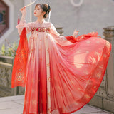 Hanfu Nuances de Rouge Tunique