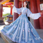 Hanfu Chine Antique bleu