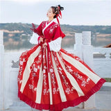 Hanfu Chine Antique rouge