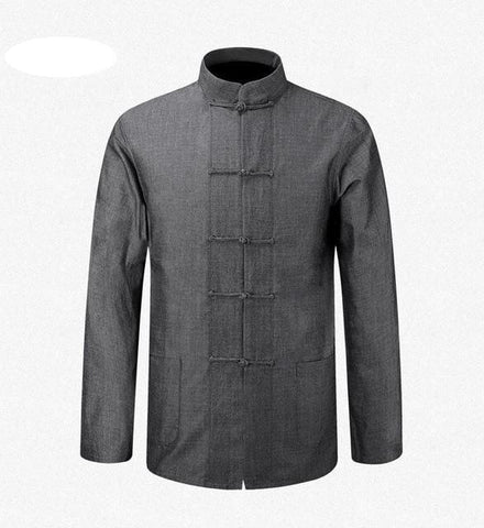 Veste Chinoise Homme Grise