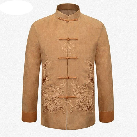 Veste Chinoise Homme ocre