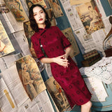 Robe Chinoise <br> Bordeaux