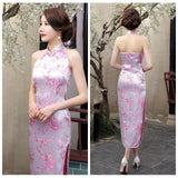 Robe Chinoise <br> Dos Nu Rose / 3XL