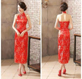 Robe Chinoise <br> Dos Nu Rouge / S