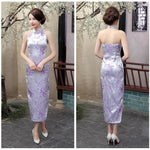 Robe Chinoise <br> Dos Nu Violet / S