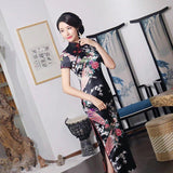 Robe Chinoise <br> Longue Noire
