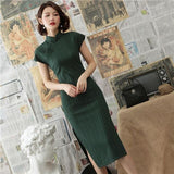Robe Chinoise <br> Moulante Vert / XXL