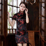 Robe Chinoise <br> Rouge et Noire S