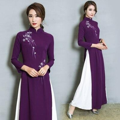 Robe Chinoise <br> Tunique Violet / XL