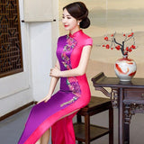 Robe Chinoise Violette et Rose