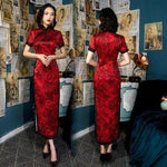 Robe d'Hôtesse Chinoise Rouge / S