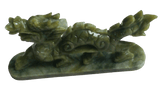 Statue Chinoise <br> Dragon en Jade